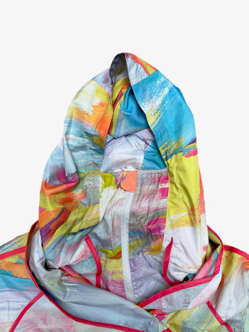 UbU Self Packing Raincoat with Built In Mask - Floral Madness Print - Sugg. $225.00
