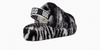 Image of UGG Fluff Yeah Zebra Slide - Black/White