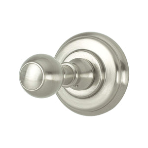 Simple Serenity Single Garment Hook Brushed Nickel