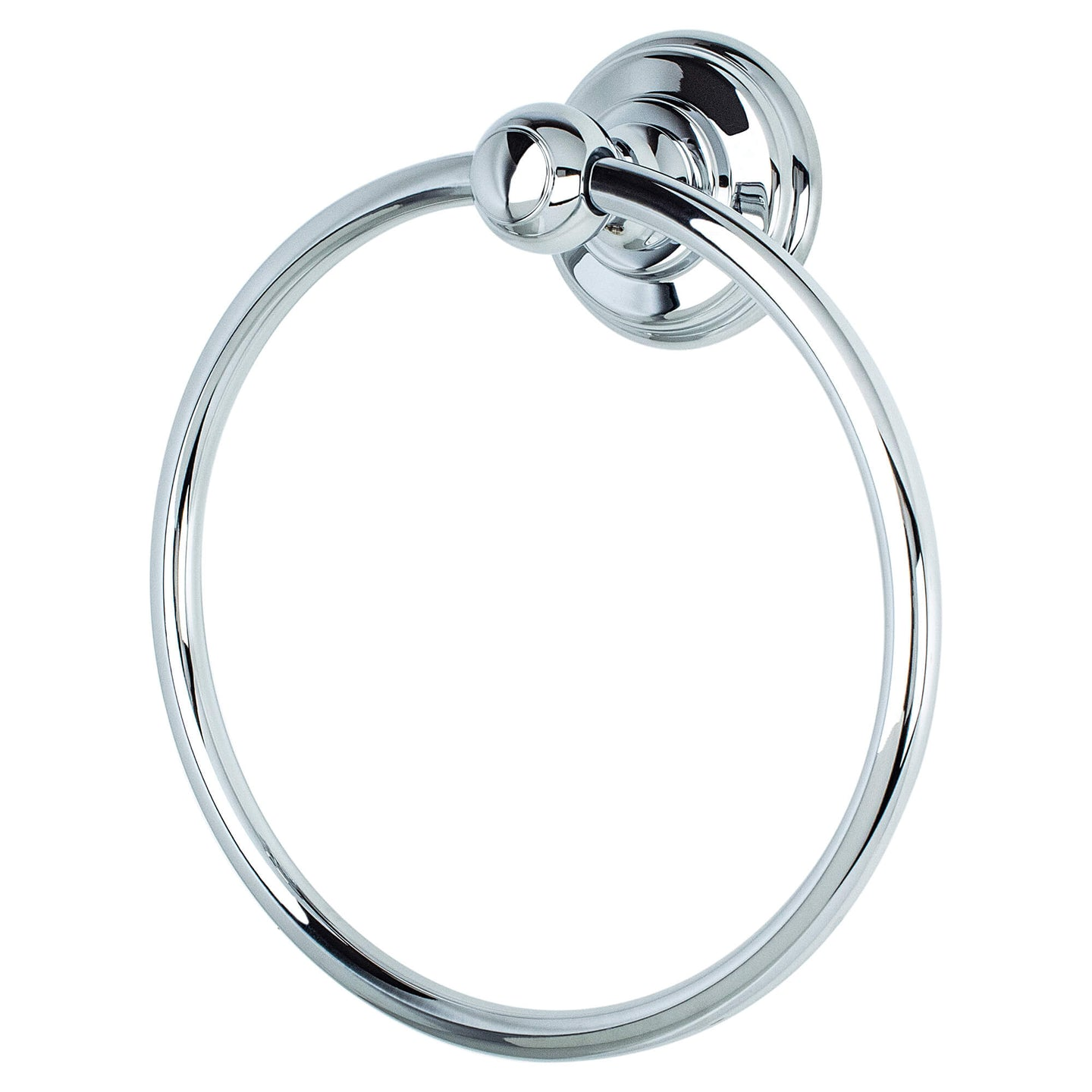 Simple Serenity Towel Ring Polished Chrome