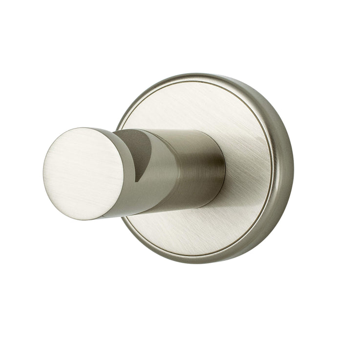 Effortless Elegance Single Garment Hook Brushed Nickel