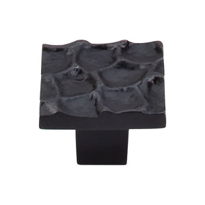 "Top Knobs Cobblestone Square Knob 1 3/8"" - Coal Black"