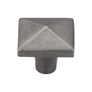 "Top Knobs Aspen Square Knob 1 1/2"" - Silicon Bronze Light"