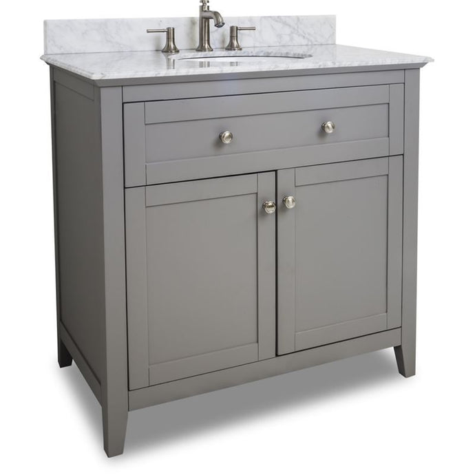 36 Grey Chatham Shaker Vanity with Top and Bowl