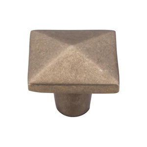 "Top Knobs Aspen Square Knob 1 1/2"" - Light Bronze"