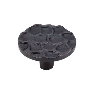 "Top Knobs Cobblestone Round Knob 1 15/16"" - Coal Black"