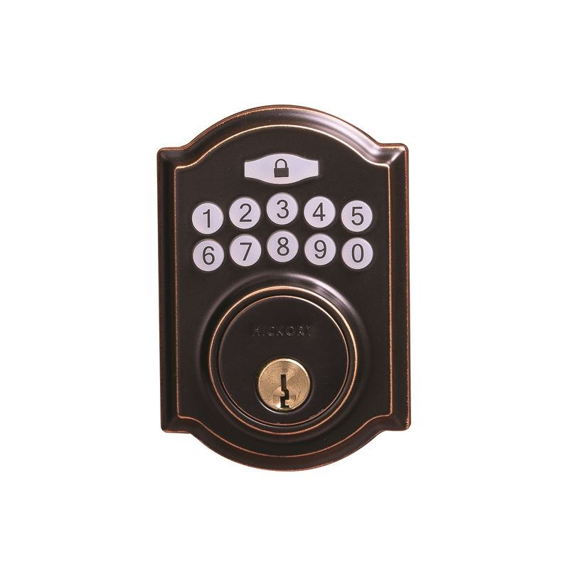 Electronic Keypad Grade 3 Deadbolt 3-3/16x6-13/16x2-1/16 Aged Bronze Finish