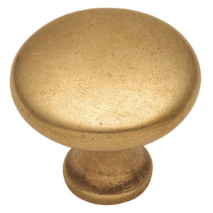 Conquest Collection Knob 1-1/8 Diameter Lustre Brass Finish