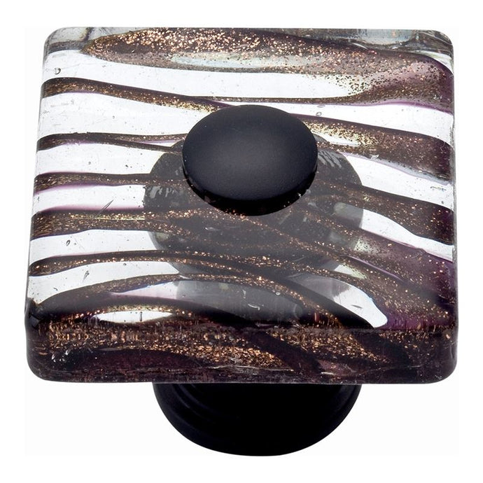 Atlas Milkyway Square Glass Knob