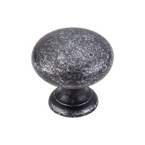 "Top Knobs Mushroom Knob 1 1/4"" - Black Iron"
