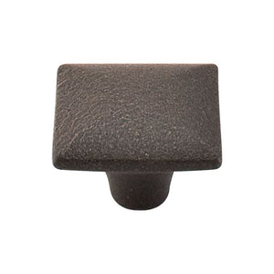 "Top Knobs Square Iron Knob Smooth 1 3/8"" - Rust"