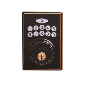 Electronic Keypad Grade 3 Deadbolt 2-11/16x 4x7/8 Aged Bronze Finish