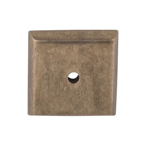 "Top Knobs Aspen Square Backplate 1 1/4"" - Light Bronze"