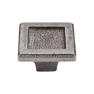 "Top Knobs Square Inset Knob 2"" - Cast Iron"