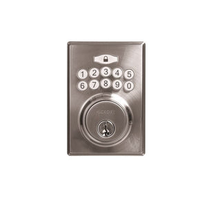 Electronic Keypad Grade 3 Deadbolt 2-11/16x 4x7/8 Satin Nickel Finish