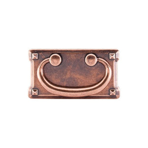 "Top Knobs Mission Plate Pull 3"" (c-c) - Old English Copper"