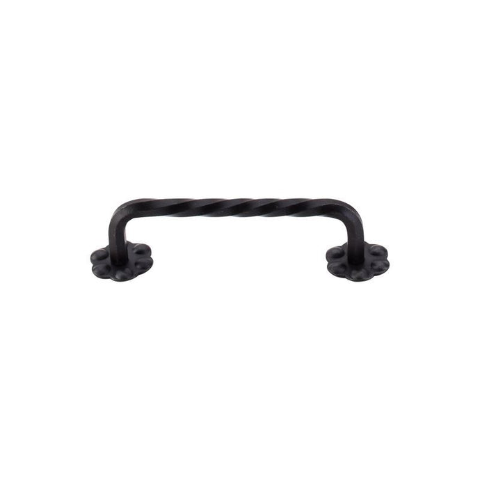 Top Knobs Thin Twist D-Pull w/Backplate 3 15/16