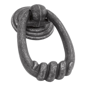 Manchester Collection Ring Pull 1-1/2 X 2-1/8 Vibra Pewter Finish