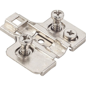 0mm Zinc Die Cast Cam Adjustable Soft-close Plate with Euro Screws