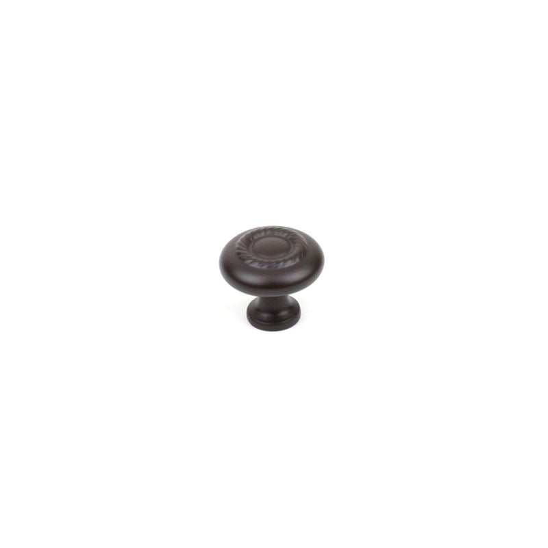 Century Hardware Zinc Die Cast Knob 1-1/4 dia Oil Rubbed Bronze Highlighted