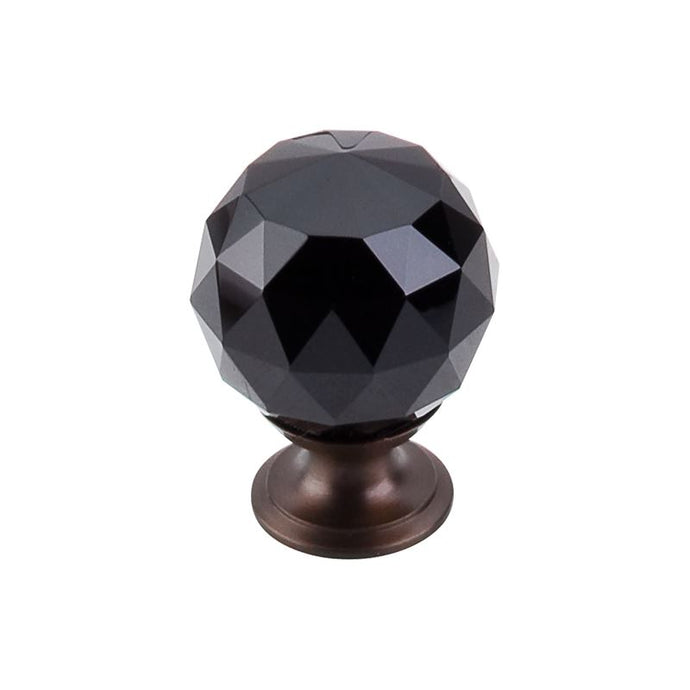 Top Knobs Black Crystal Knob 1 3/8