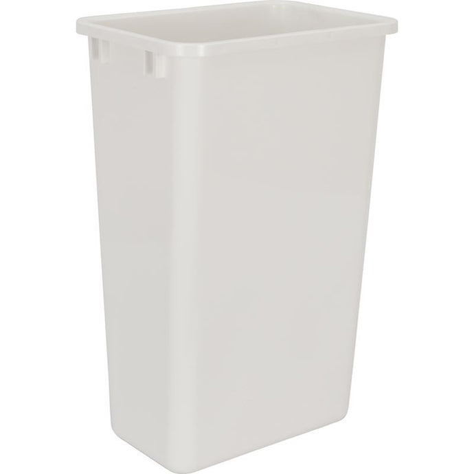 White 50-Quart Plastic Waste Container