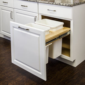 Top Mount Soft-Close Double Trash Can Unit - for 18 Openings