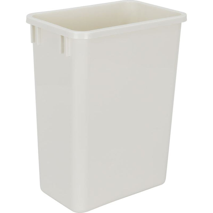 White 35-Quart Plastic Waste Container