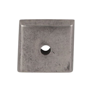 "Top Knobs Aspen Square Backplate 7/8"" - Silicon Bronze Light"