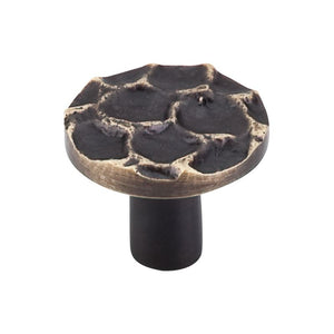 "Top Knobs Cobblestone Round Knob 1 3/8"" - Brass Antique"