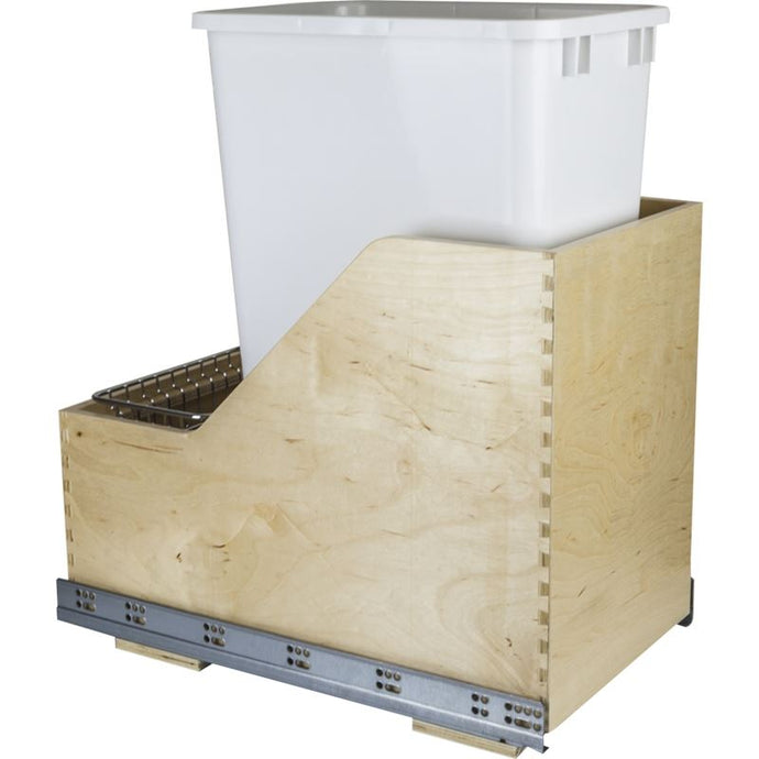 Preassembled 50-Quart Single Pullout Waste Container System