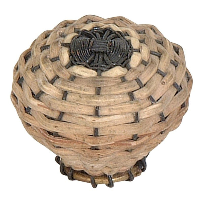 Atlas Bamboo Weave Small Knob