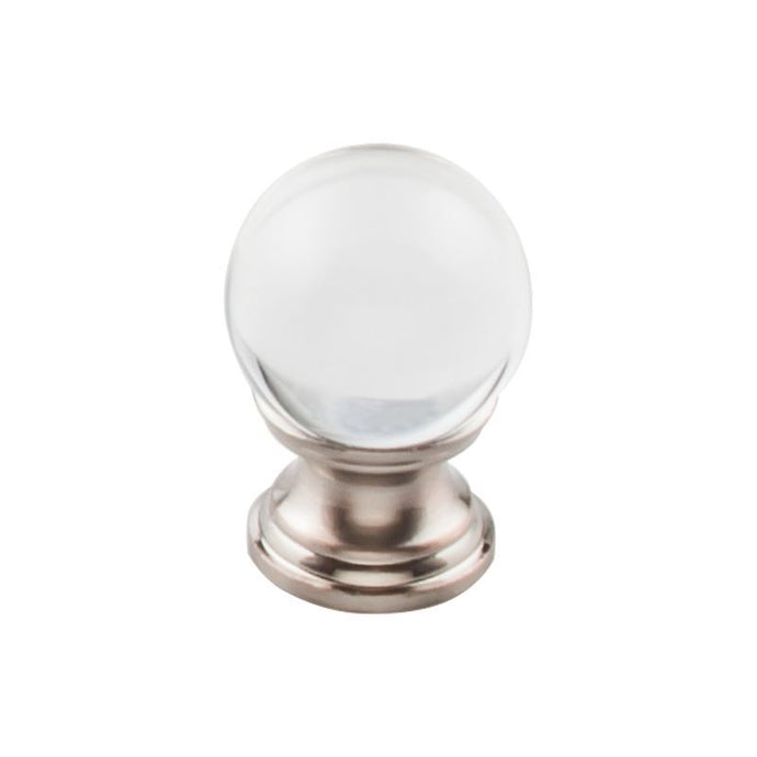 Top Knobs Clarity Clear Glass Round Knob 1