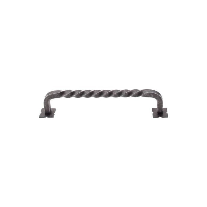 Top Knobs Square Twist D-Pull w/Backplates 6