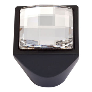Atlas Large Swarovski Crystal Square Knob
