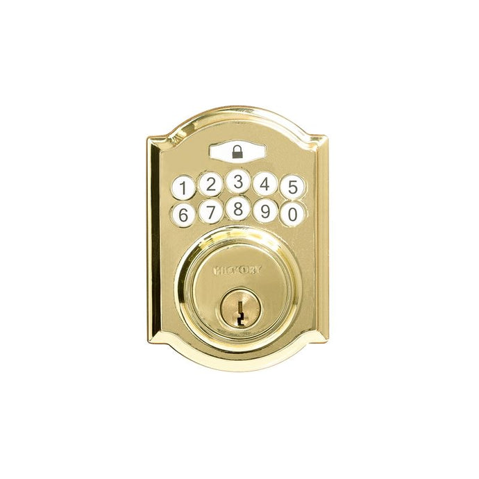 Electronic Keypad Grade 3 Deadbolt 3-3/16x6-13/16x2-1/16 Polished Brass Finish
