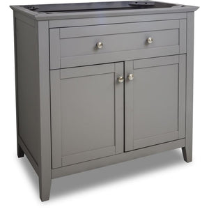 35-11/16 Grey Chatham Shaker Vanity Base