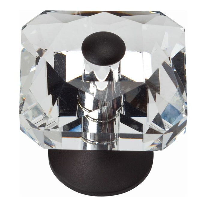 Atlas Crystal Square Knob