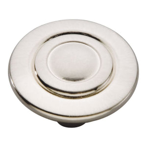 Cavalier Collection Knob 1-1/8 Diameter Satin Nickel Finish