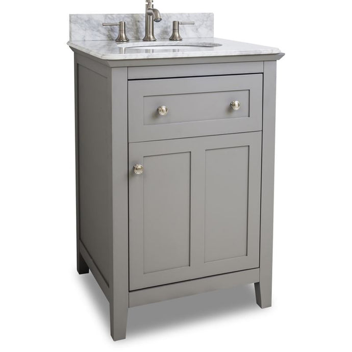 24 Grey Chatham Shaker Vanity with Top and Bowl
