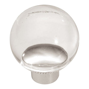 Midway Collection Knob 1-1/4 Diameter Lucite Finish