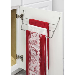 Polished Chrome Door Mount 3-Tier Dishcloth Rack