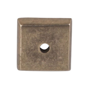 "Top Knobs Aspen Square Backplate 7/8"" - Light Bronze"