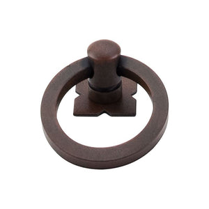 "Top Knobs Smooth Ring Pull 1 9/16"" w/Backplate - Patina Rouge"