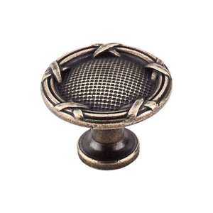 "Top Knobs Ribbon & Reed Knob 1 1/4"" - German Bronze"