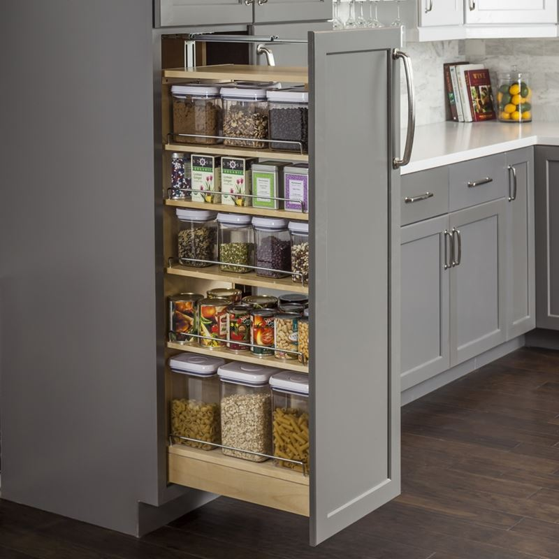 Wood Pantry Cabinet Pullout 11-1/2 x 22-1/4 x 60