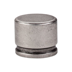 "Top Knobs Oval Knob Large 1 3/8"" - Pewter Antique"