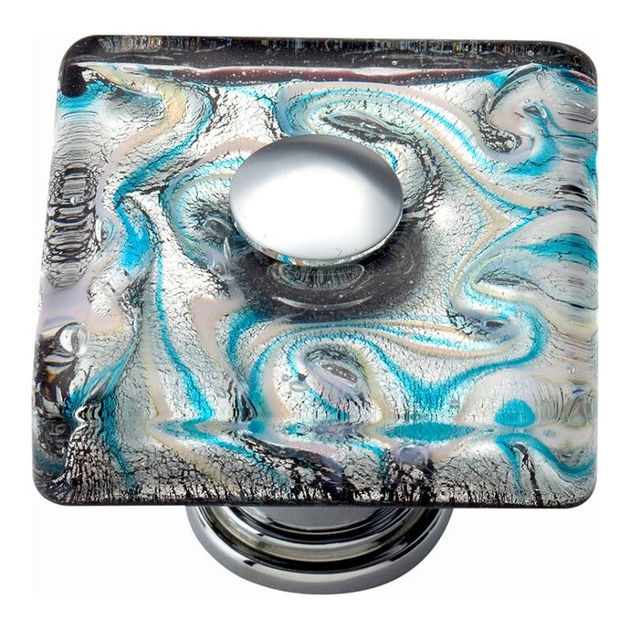 Atlas Ocean Square Glass Knob