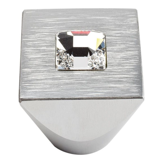 Atlas Centered Swarovski Crystal Square Knob