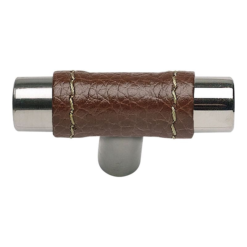 Atlas Zanzibar Brown Leather Knob